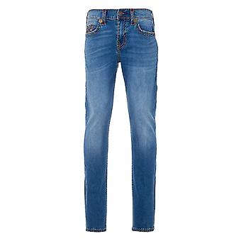 True Religion Rocco Super T Relaxed Skinny Jeans - Harlow Medium Wash
