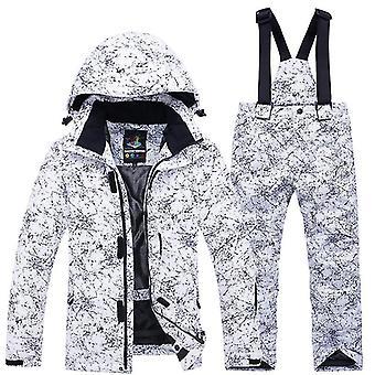 - 30 degrés Snowboard Ski Jacket Pantalon Imperméable Thermique Vêtements d'hiver