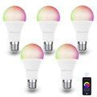 Difeisi dfs-ec-0001 e27 9w wifi a60 rgb+cct smart bulb 810lm ac220-240v works with alexa and google assistant