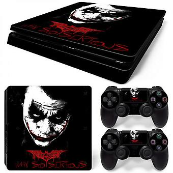 Ps4 Slim Console And Controllers Skin Sticker - Joker