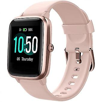 Smart Watch Fitness Tracker Orologi, Fitness Watch Frequenza cardiaca Ip68 Waterproof Digital Watch (Rosa)