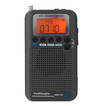 Portable Radio Aircraft Band Receiver With LCD Display Alarm Clock|Radio
