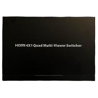 HDMI Multiviewer switch, 4x1 HDMI, Full HD, three display modes, black