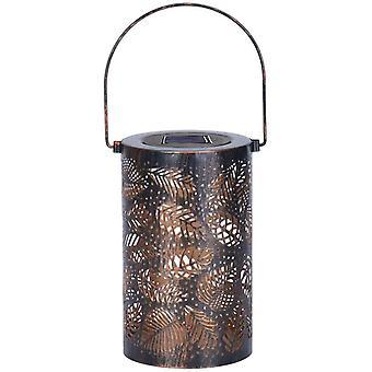 Lanterne solaire extérieure, lanternes de jardin suspendues en métal, jardin et décor de pelouse