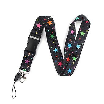 Cartoon Key Lanyard Neck Strap Keyring Holder With Removable Release Buckle