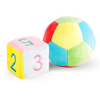 ぬいぐるみファブリックフットボールファブリックダイス親子ゲームのおもちゃ