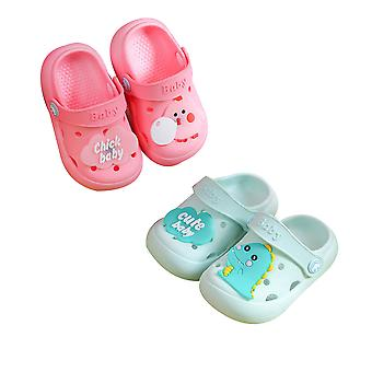 Children's Slippers Sandals Cartoon Non-slip Hole Shoes For Girls And Boys