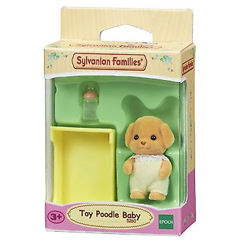 Sylvanian familjer Toy pudel Baby