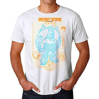 The Fifth Element Mondo Schematic Men's White T-shirt