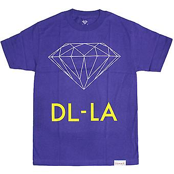 Diamond Supply Co DL-LA T-Shirt Purple