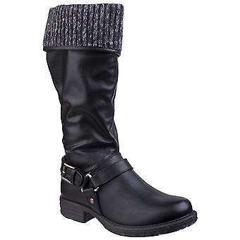 Divaz Womens Monroe Tall Boot Black
