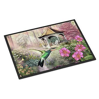 Garden Gazebo Hummingbird Indoor or Outdoor Mat 18x27
