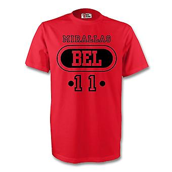 Kevin Mirallas Belgien Bel T-shirt (rot) - Kids