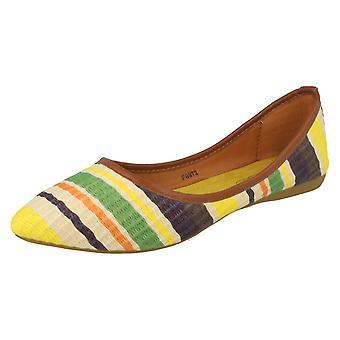 Ladies Spot på Flat spiss tå stripete Ballerina sko