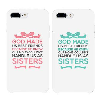 God Made Us Best Friend BFF White Matching Phone Cases