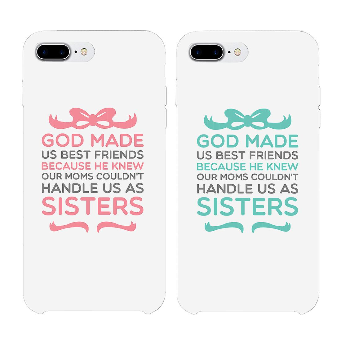 wholesale dealer 1cea0 119ac God Made Us Best Friend BFF White Matching Phone Cases