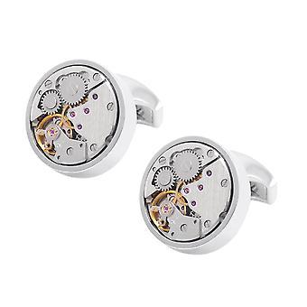 Orologio movimento Steampunk gemelli gemelli regalo scheletro dell'annata