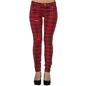 Banned Apparel Red Move On Up Trousers