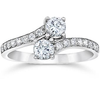 1 1/2CT Forever Us 2-Stone Two Diamond Ring 14K White Gold