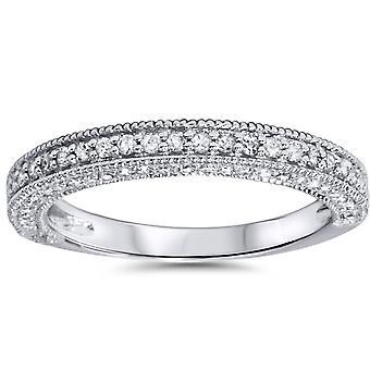 3 / 4ct бриллиант кольцо 14K Белое золото