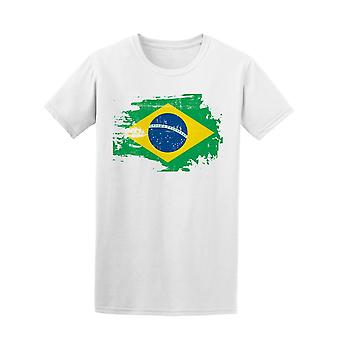 Scratched Brazilian Flag Tee Men's -Image by Shutterstock