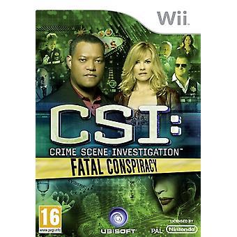 CSI Fatal Conspiracy (Wii) - Usine scellée