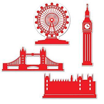 Lontoo siluetti pahvi leikattuja