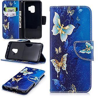 Pocket tegnebog motiv 26 for Samsung Galaxy S9 plus G965F beskyttelse ærme tilfælde dække pose nye