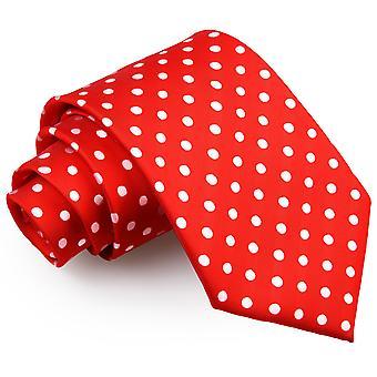 Klassische Krawatte Red Polka Dot