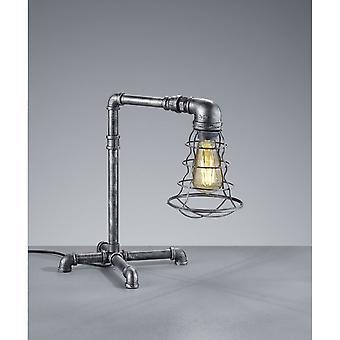 Trio d'éclairage lampe de Table en métal argent Antique Vintage de Gotham