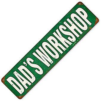 Dads Workshop rustent Metal underskrive 200 Mm X 50 Mm