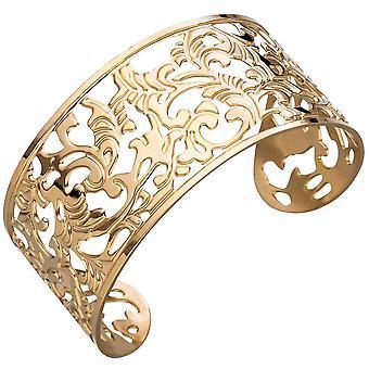 Polsino / aperto Bangle in colori oro Bracciale placcato in acciaio inox