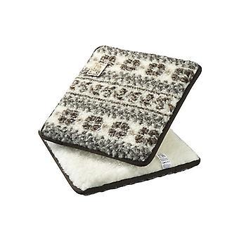 Silla cojines asiento Cojín cuadrado beige marrón 2-Pack 37 x 40 cm