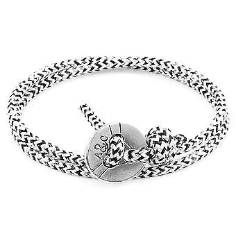 White Noir Lerwick Silver and Rope Bracelet