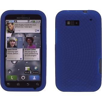 Funda de silicona radiante de azul cobalto 4 Motorola MB525 Defy
