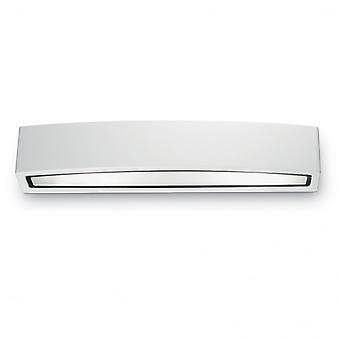 Lámpara de pared ideal Lux Andromeda doble exterior blanco plástico moderno