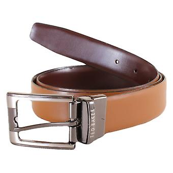 Ted Baker Crafti Smart Leather Reversible Belt - Tan/Brown