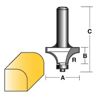 Carb-I-Tool Round Over Router Bit 1/2 W/Bearing 1/2