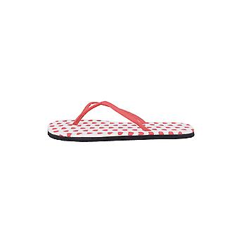 Lovemystyle Red And White Flip Flops With Heart Polka Dots