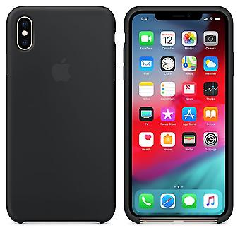 Original Packed Apple Silicone Microfiber Cover Cover Case for iPhone XS Max - Black