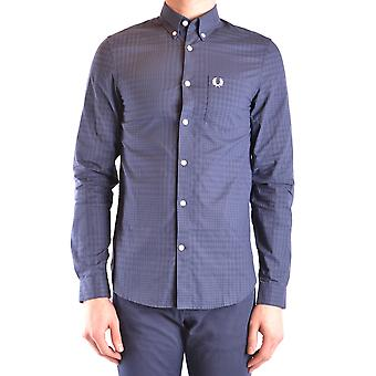Fred Perry Ezbc094070 Men's Blue Cotton Shirt