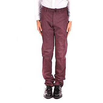 Incotex Ezbc093044 Men's Burgundy Cotton Pants