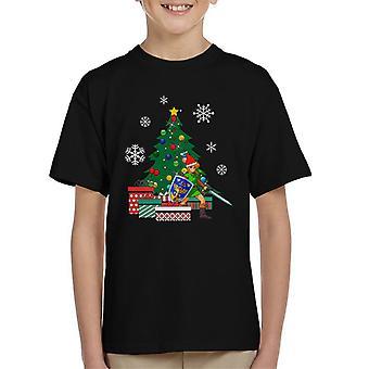 Link Legende von Zelda rund um den Weihnachtsbaum Kinder T-Shirt