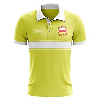 Süd-Ossetien-Konzept-Streifen-Polo-Shirt (gelb)