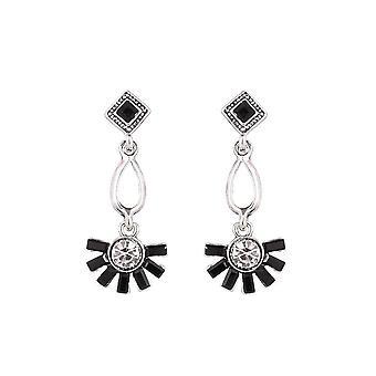 Fable Womens/Ladies Sunburst Dangle Earrings