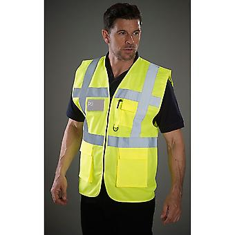 Grafters Unisex Safety Hi-Visibility Executive Waistcoat