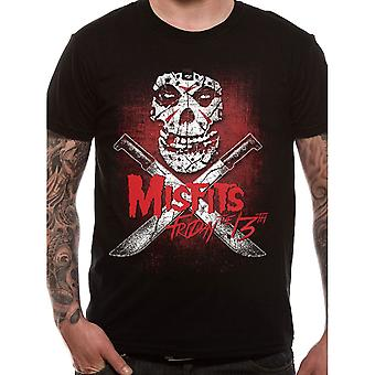 Men's Misfits Friday The 13th Black T-Shirt
