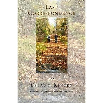 Last Correspondence - Poems by Leland Kinsey - 9780998260495 Book