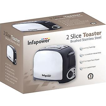 Infapower 2 Slice Toaster - Stainless Steel (Model No. X553)