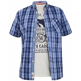 DUKE Duke Short Sleeve Casual Check Shirt And T Shirt Set